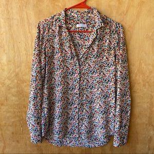 Equipment Femme slim Signature Silk Floral Shirt